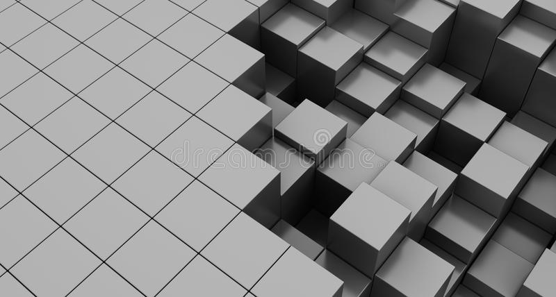 Cube le fond illustration stock