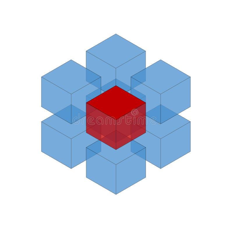 Cube le logo illustration stock