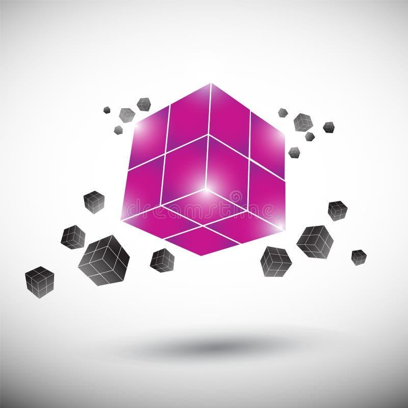 Cube logo stock illustration