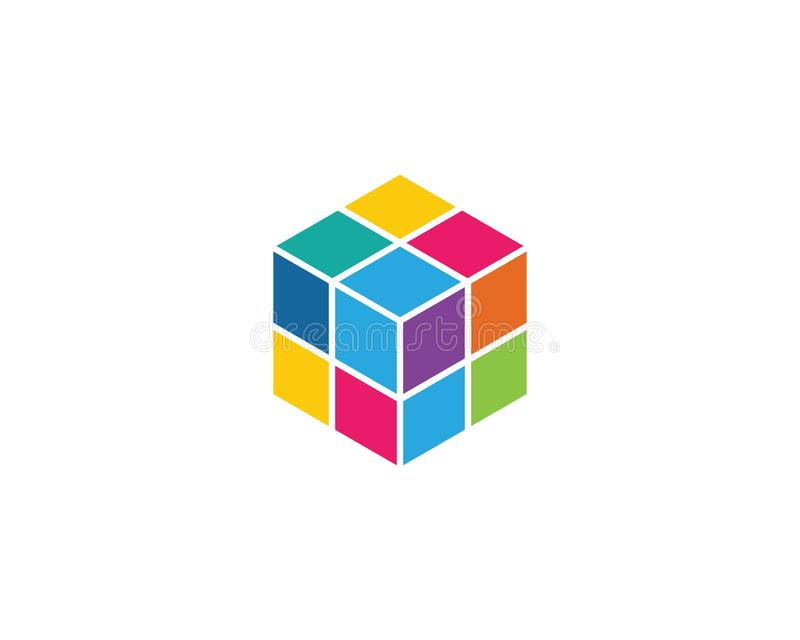Cube Logo Template Vector Icon Stock Vector Illustration Of Brain
