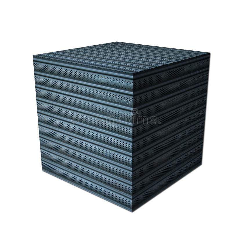 Download Cube with metal sides stock illustration. Image of metal - 11099016