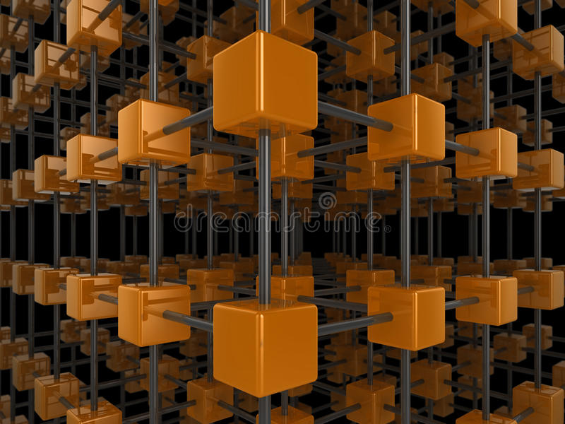 Cube network stock illustration
