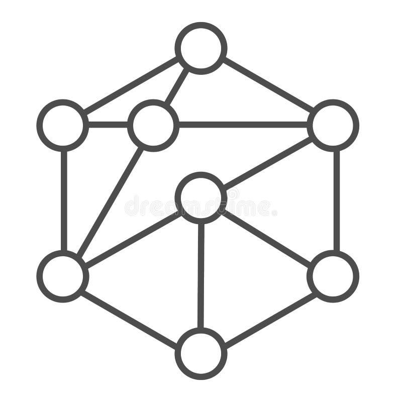 cube network stock illustration  illustration of internet