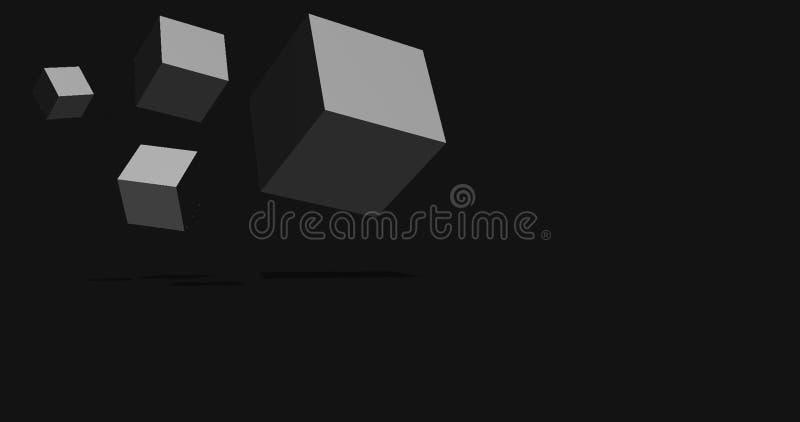 Cube o fundo ilustração do vetor
