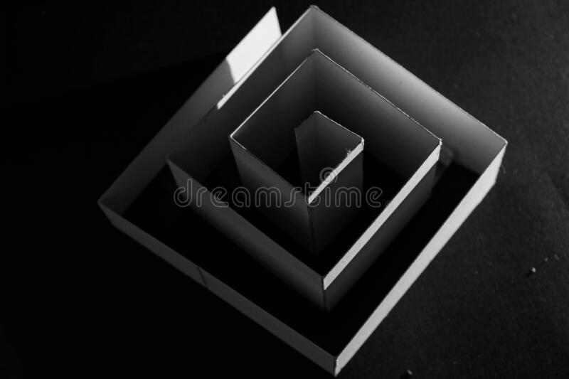 Cube - only one or more. Only one line can indicate a cube if we want or much more. Lights help us too royalty free stock photos