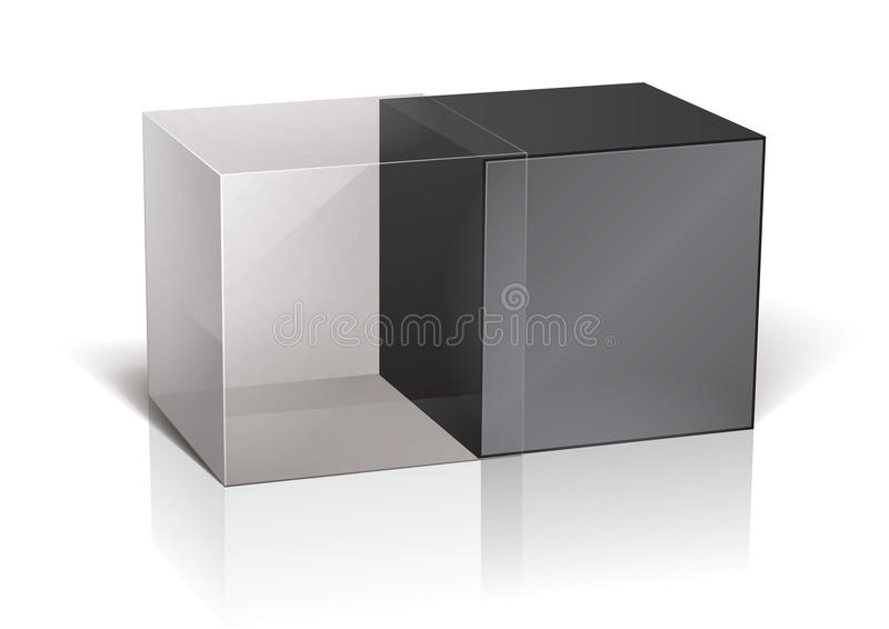 Cube package. For your design, eps10 royalty free illustration