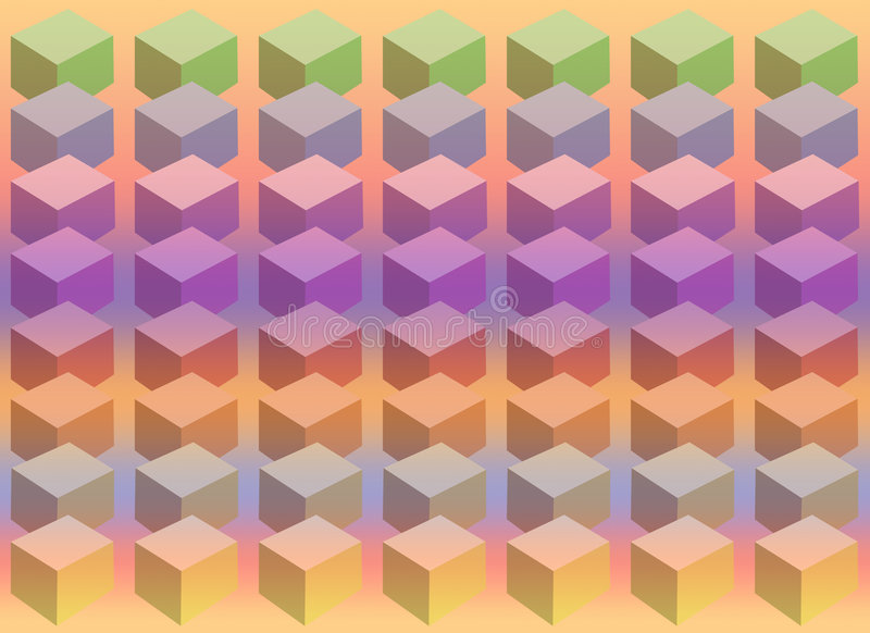 Cube Pastel Royalty Free Stock Photo