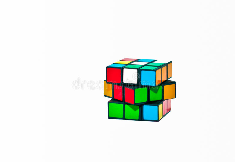 Download Cube Puzzle editorial stock photo. Image of puzzle, color - 26910823