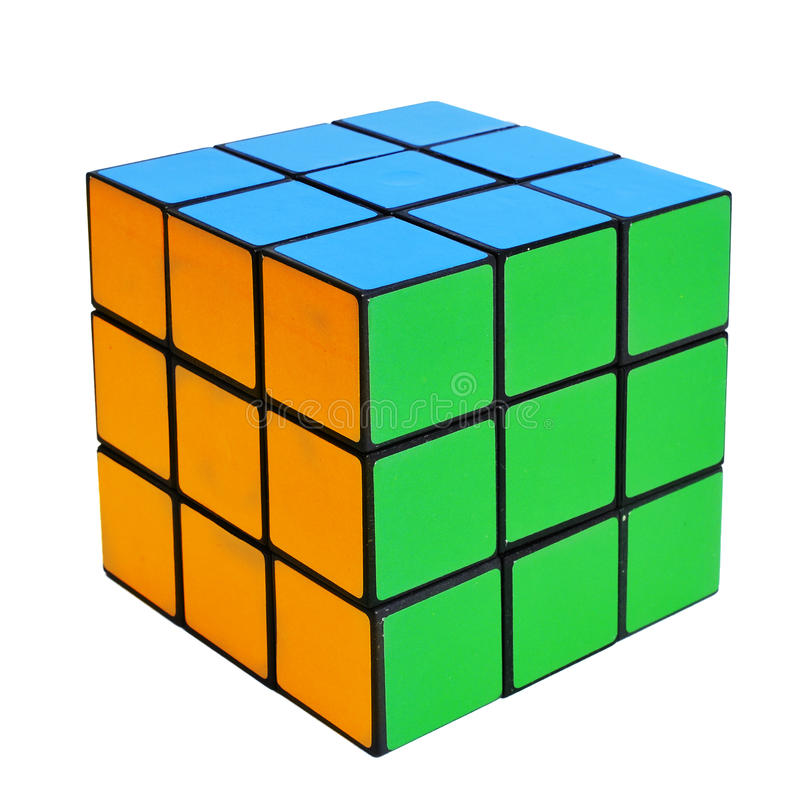 Cube puzzle royalty free stock photography