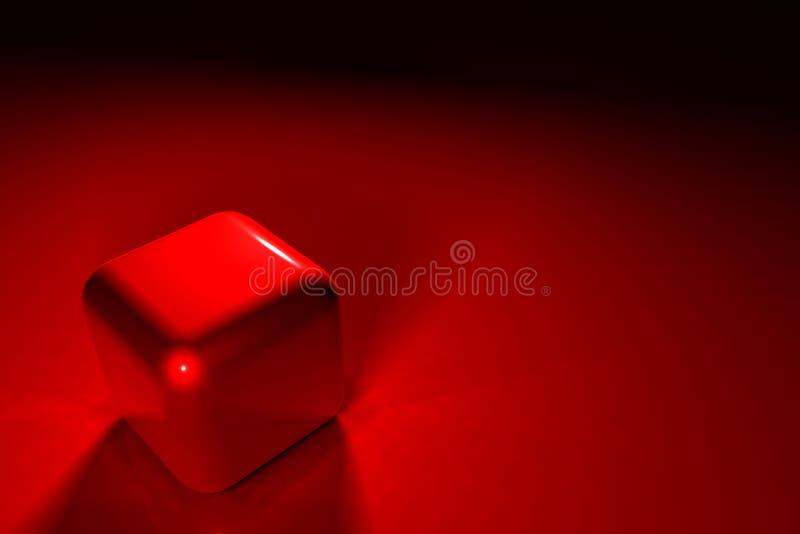 Cube rouge photographie stock libre de droits