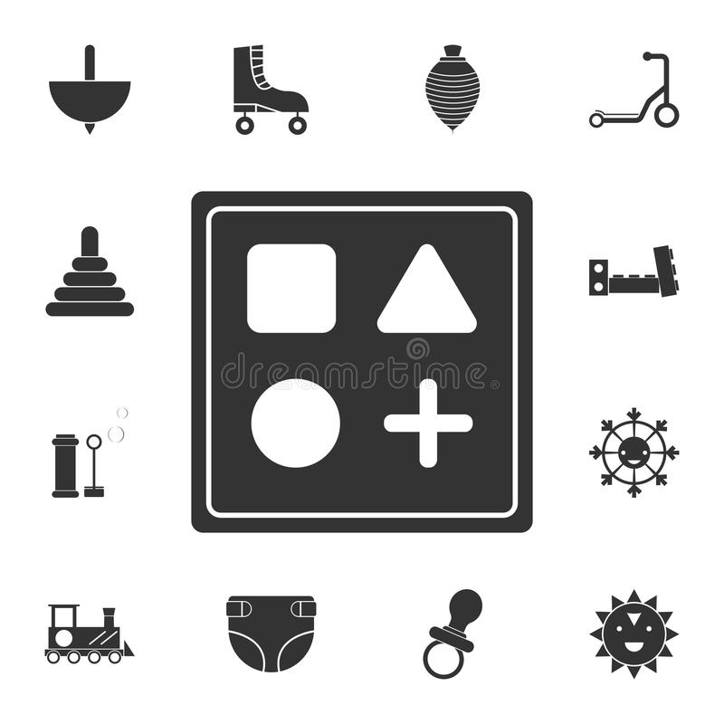 cube with signs icon. Detailed set of toys icon. Premium graphic design. One of the collection icons for websites, web design, mob royalty free illustration