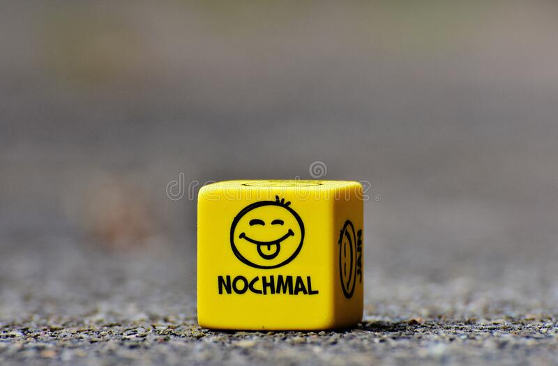 Cube with smileys stock photos