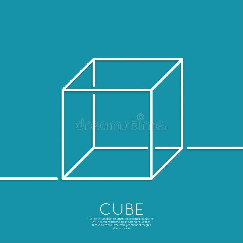 Cube sur un fond bleu illustration stock