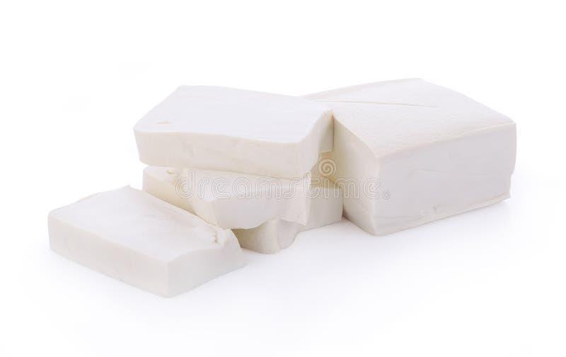 Cube tofu isolated on white background royalty free stock images