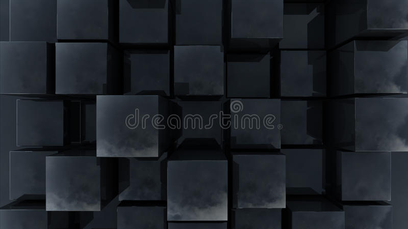Cube Wave. Abstract Cube Architecture modern 3d render stock photos