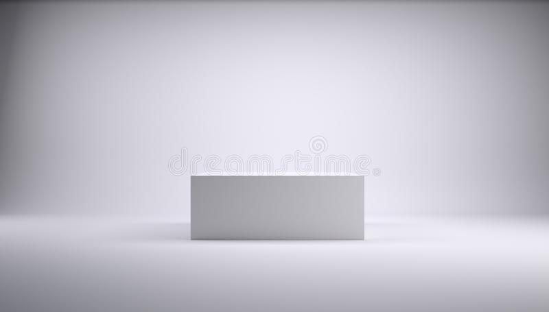 Download Cube In A White Studio Stock Photo - Image: 30406570