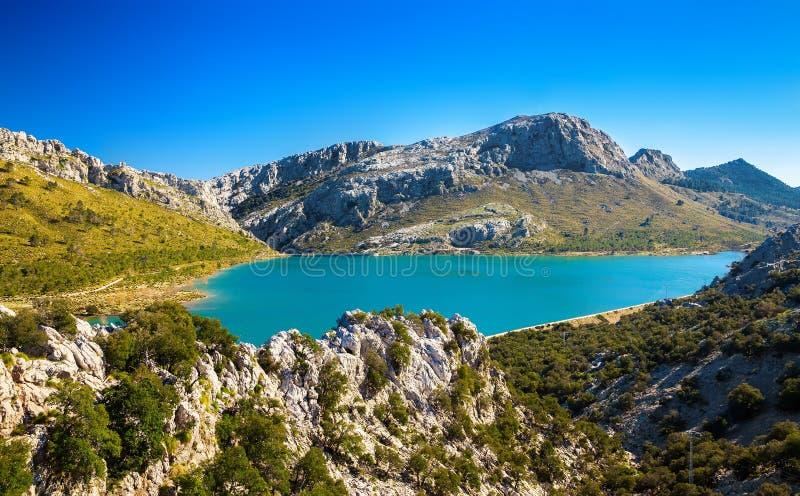 Cuber湖在马略卡 免版税库存照片