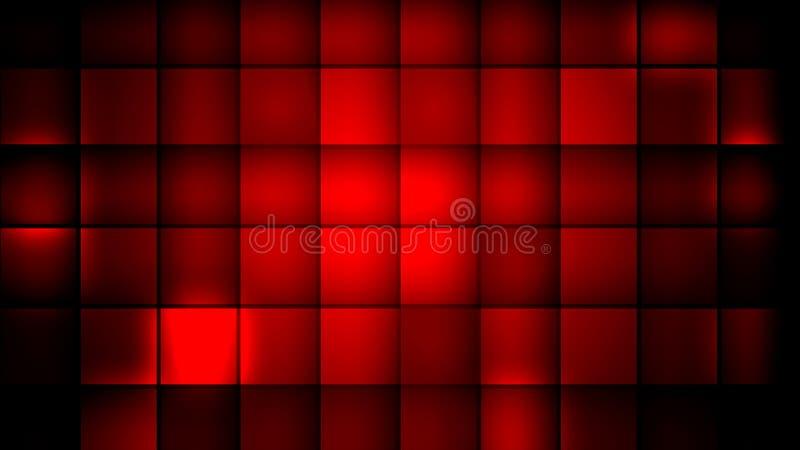 cubes красный цвет иллюстрация вектора