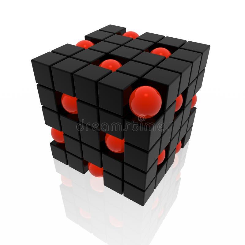 cubes сферы иллюстрация штока