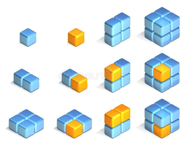Cubes illustration de vecteur