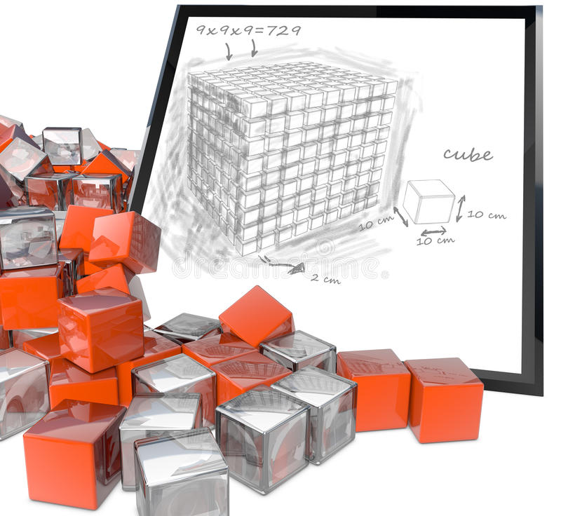 Download Cubes stock illustration. Illustration of metallic, assembling - 24381417