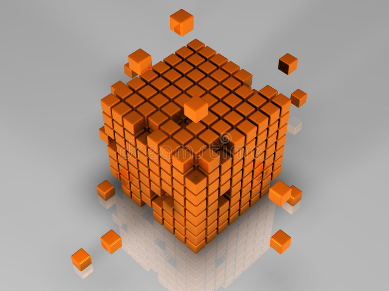 Cubes illustration libre de droits