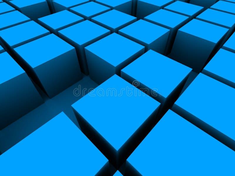 cubes 3d illustration libre de droits