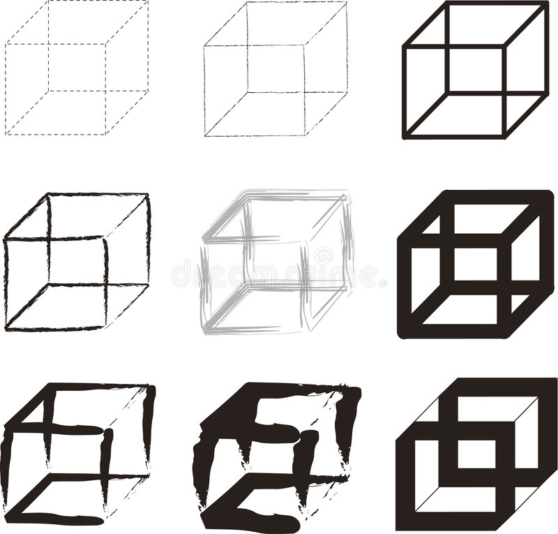 Cubes stock illustration