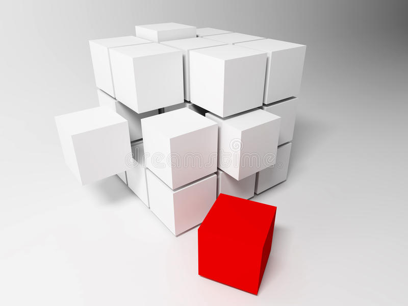 Cubes. Abstract background stock illustration