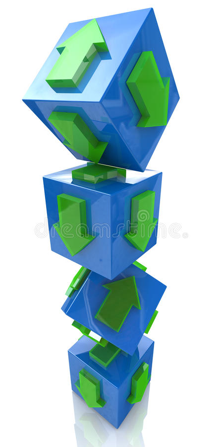 Cubes with arrows royalty free stock photography