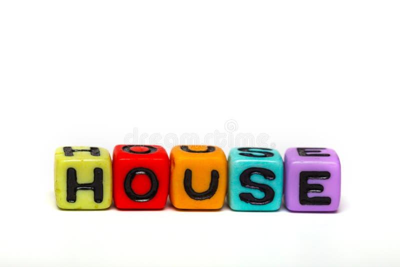 Cubes avec des lettres photographie stock