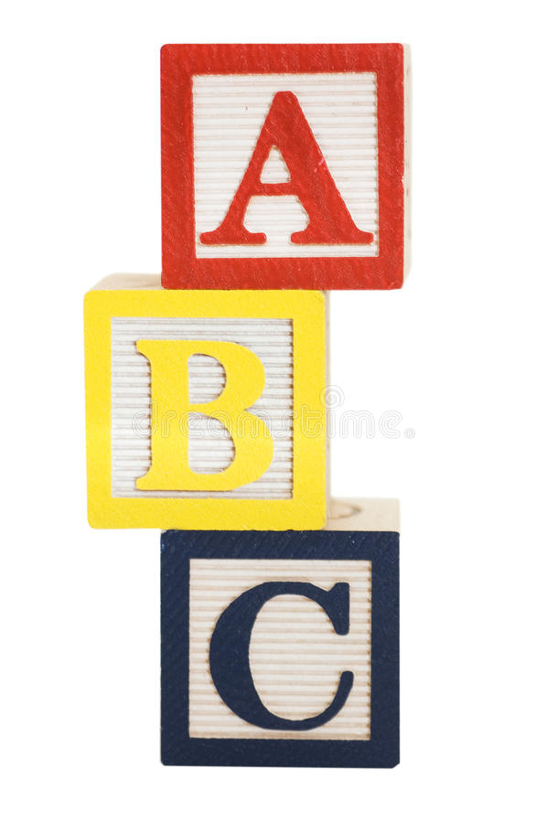Cubes avec des lettres d'isolement photographie stock