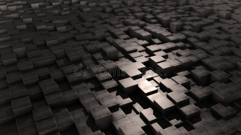 Cubes. Background, texture loop shadow stock illustration