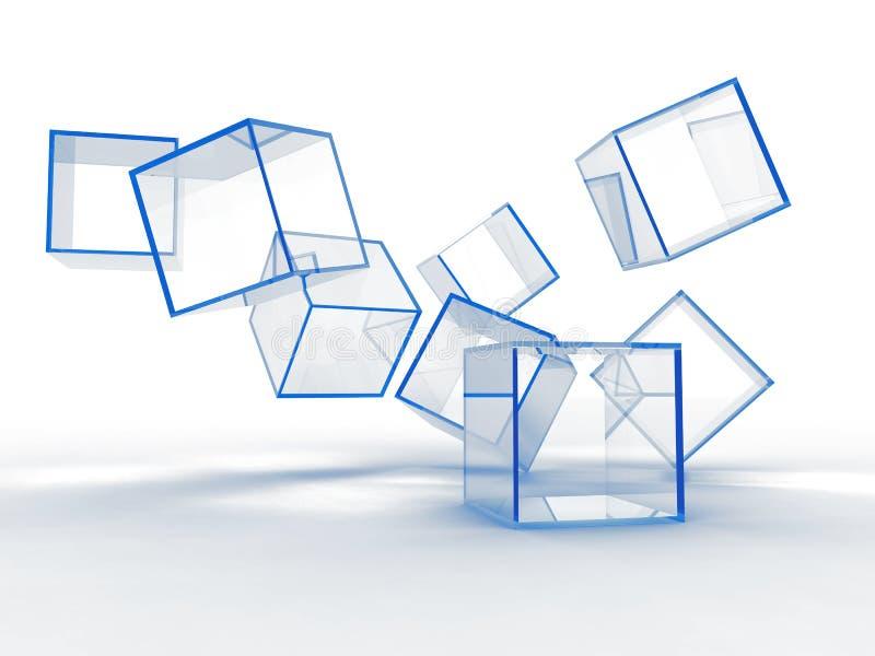 Cubes bleus en verre illustration libre de droits