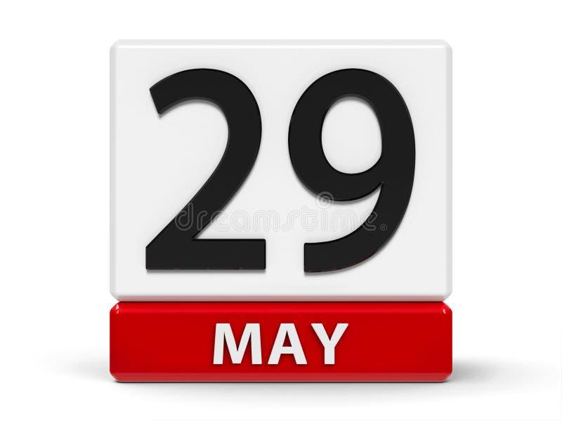 Cubes calendrier 29 mai illustration libre de droits