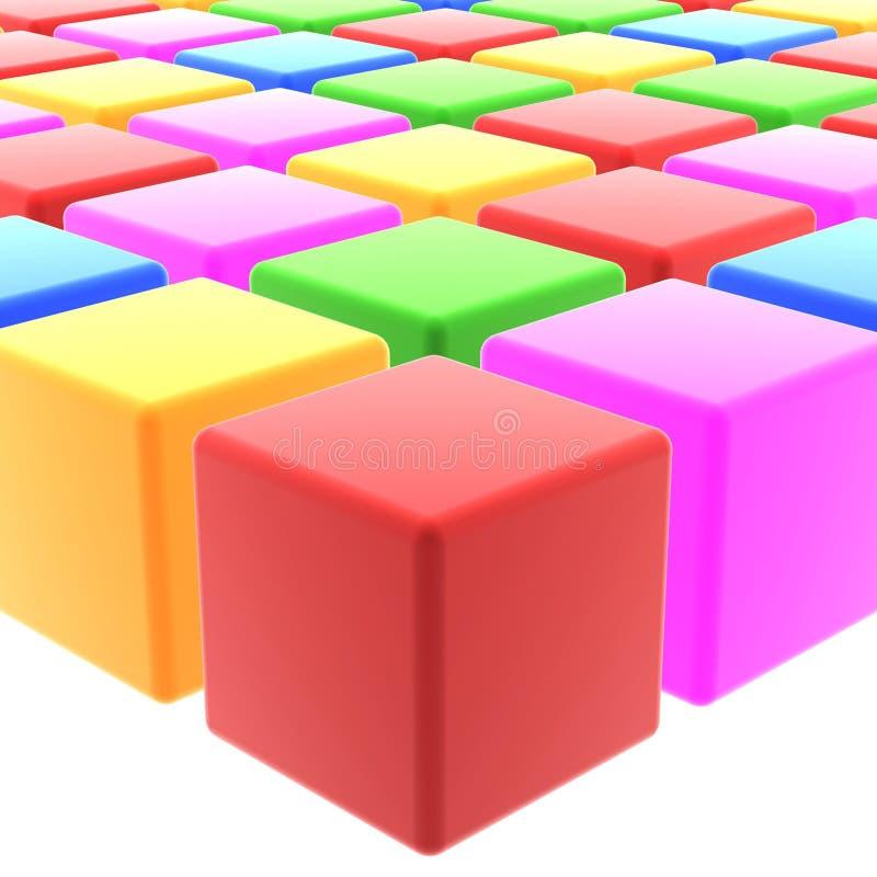 Cubes colorés illustration libre de droits