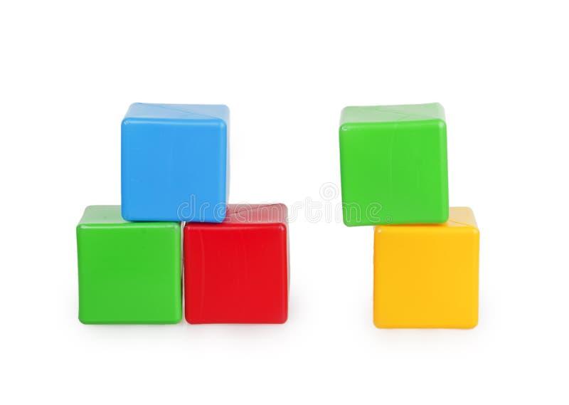 Cubes colorés par enfants photo libre de droits
