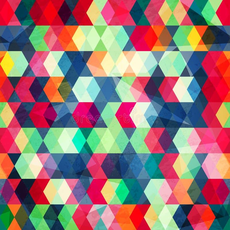 Cubes colorés sans couture avec l'effet de grungr illustration de vecteur