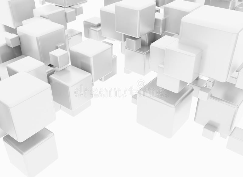 cubes 3D illustration stock