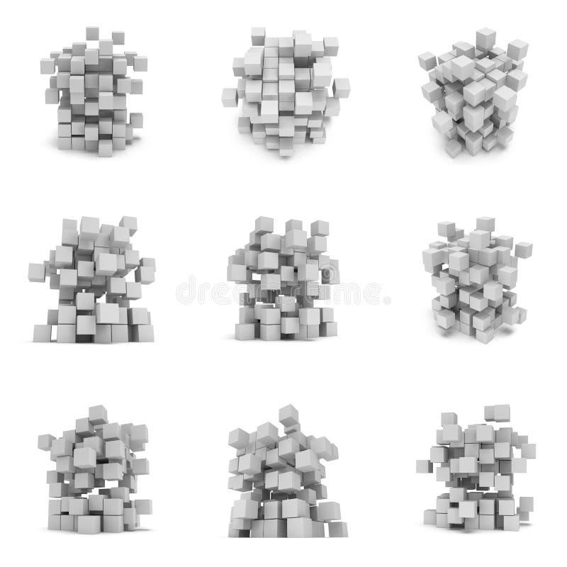 Cubes 3d abstraits positionnement illustration libre de droits