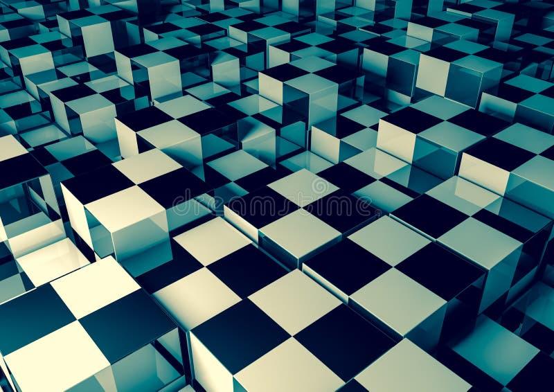 Download Cubes stock illustration. Image of metal, glass, blue - 31159002