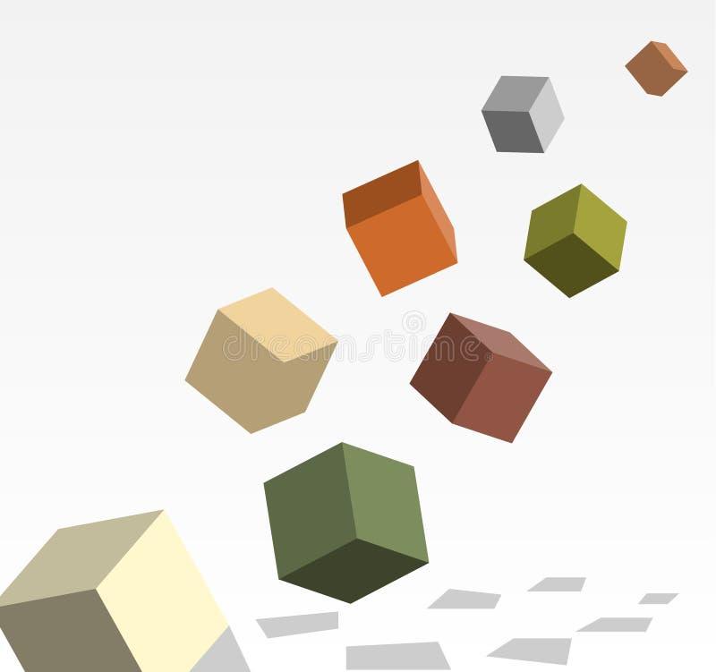 Cubes dans 3d complétant illustration stock