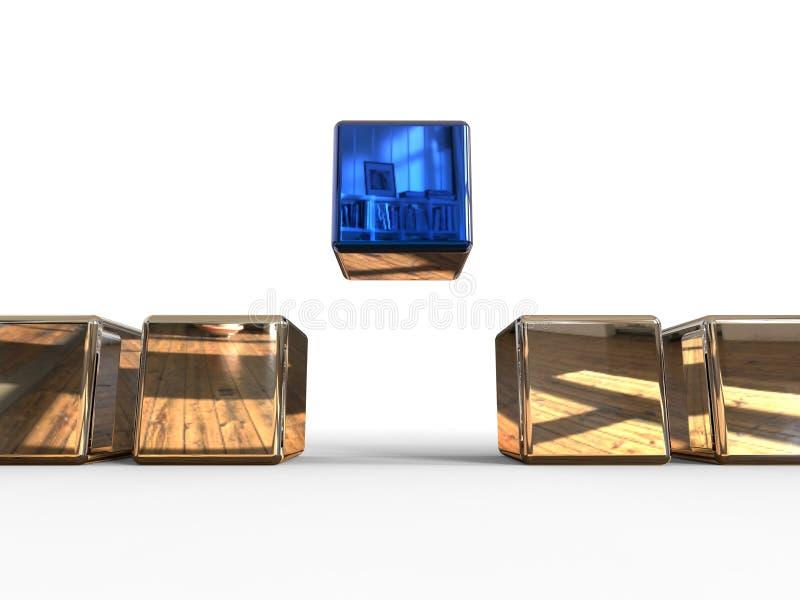 Cubes de organisation illustration de vecteur
