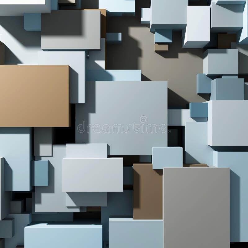 Cubes de vue supérieure de différentes tailles photographie stock