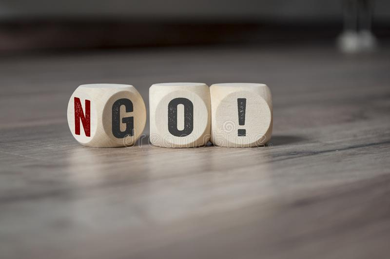 Cubes and dice with No Go royalty free stock photography