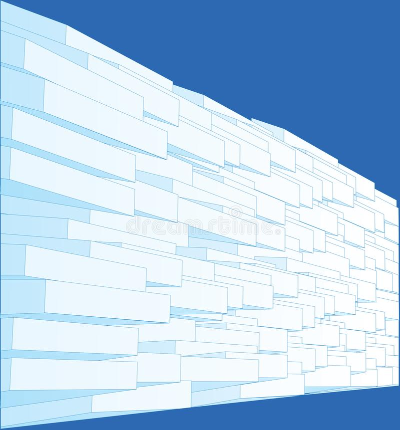 Cubes dispersés avec des ombres, fond abstrait illustration libre de droits