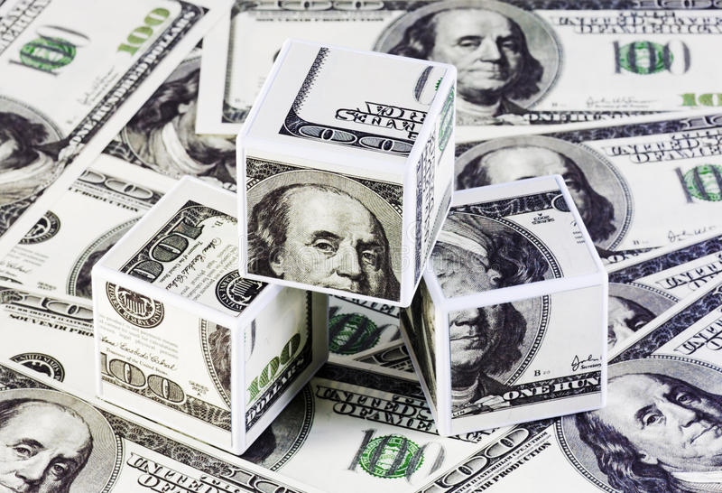 Download Cubes of dollars stock image. Image of copy, plastic - 13344415