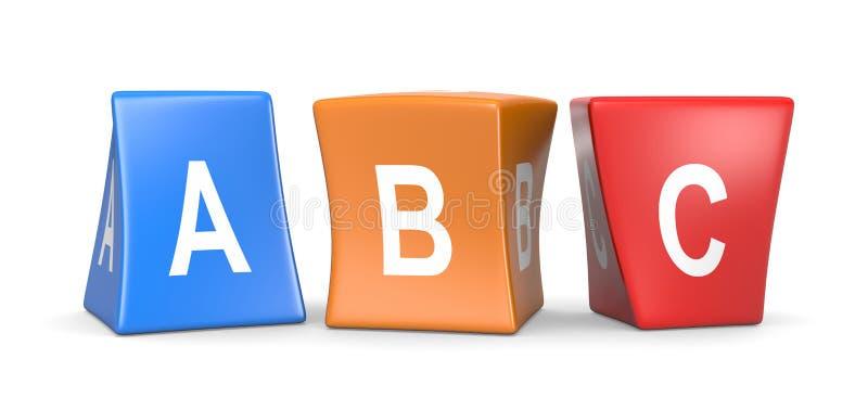 Cubes drôles en ABC illustration stock