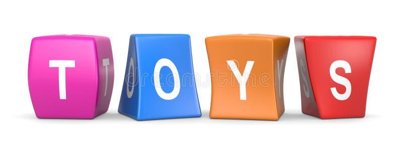 Cubes drôles en jouets illustration de vecteur
