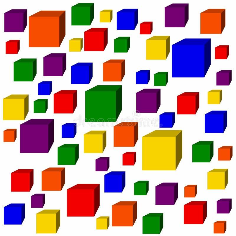 Cubes en arc-en-ciel photographie stock libre de droits
